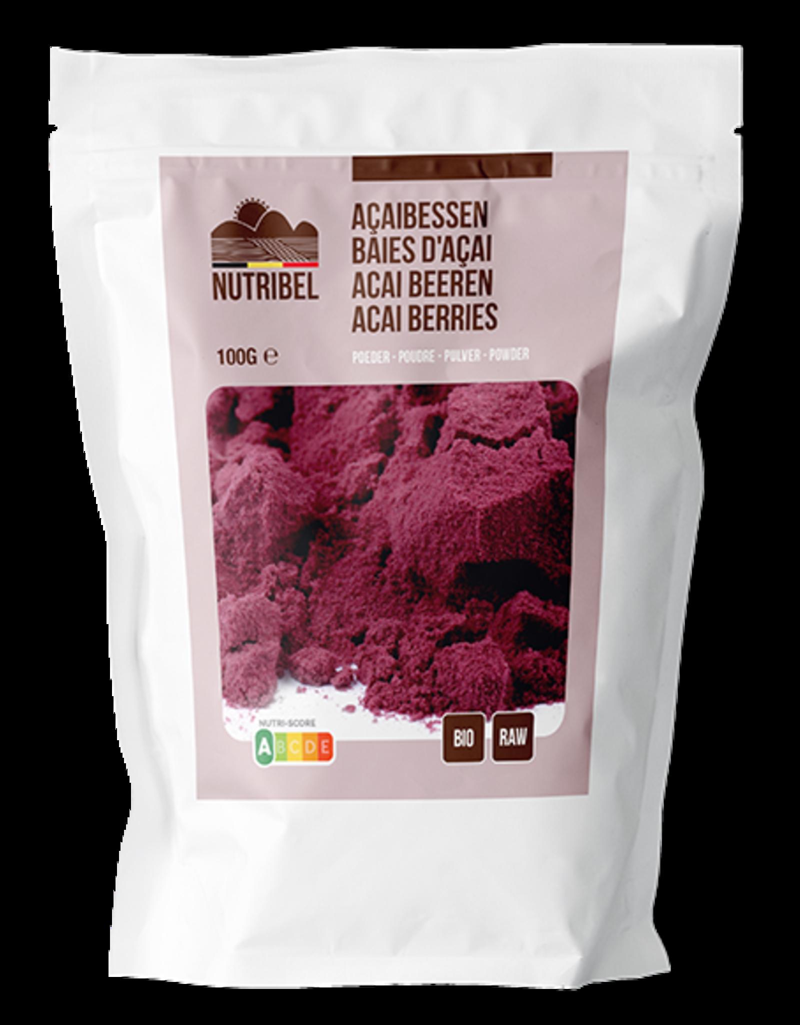 Nutribel Açai berry poudre bio & raw 100g
