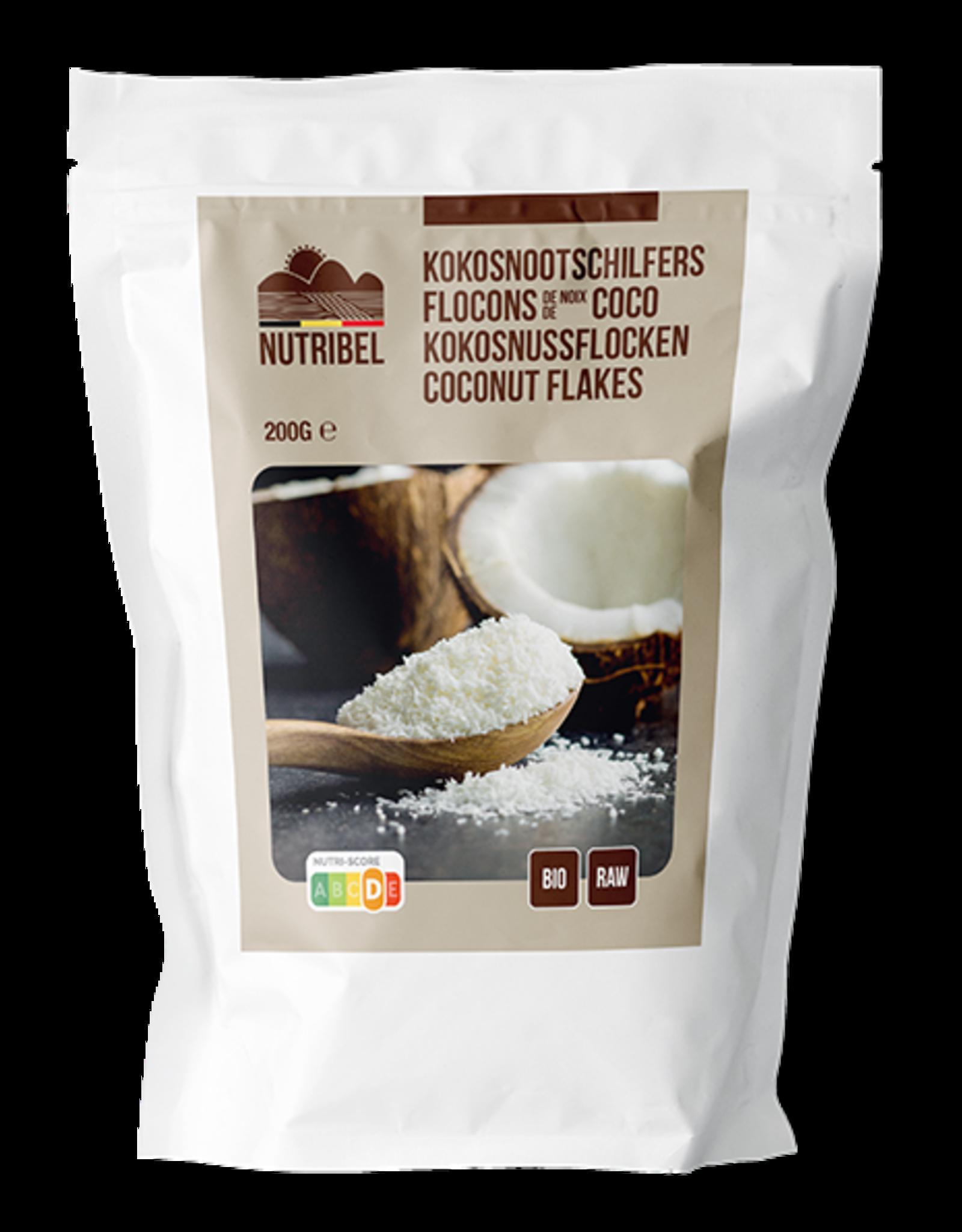 Nutribel Kokosnoot schilfers bio & raw 200g