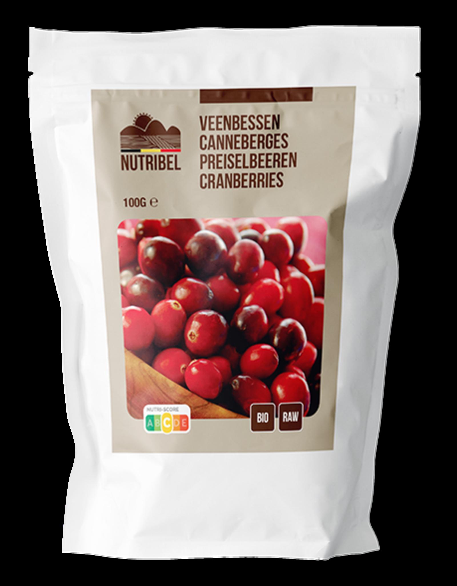 Nutribel Canneberges bio & raw 100g