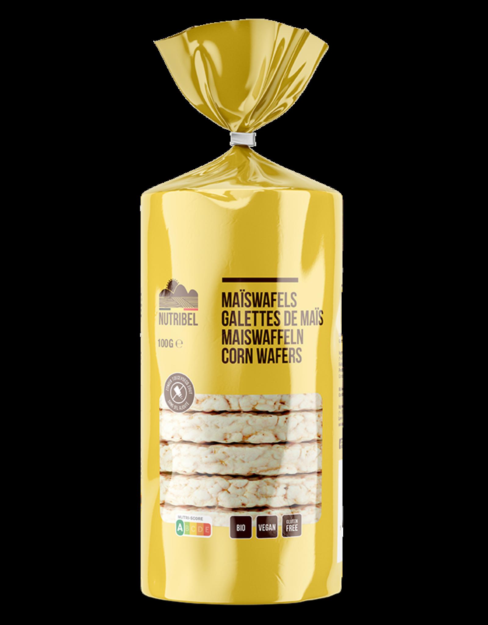 Nutribel Maïswafels zz bio & glutenvrij 100g