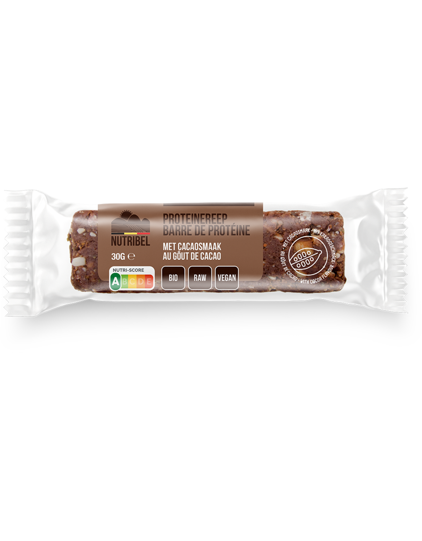 Nutribel Barres protein cacao bio 30g 20 pièces