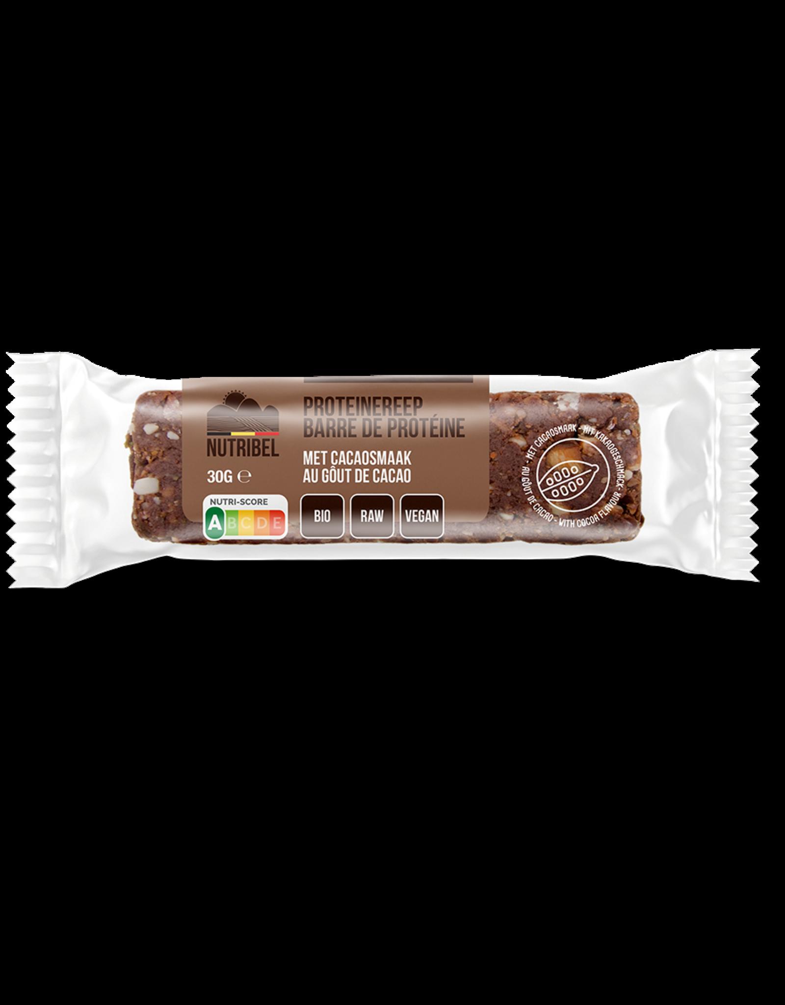 Nutribel Proteinerepen cacao bio 30g 20 stuks