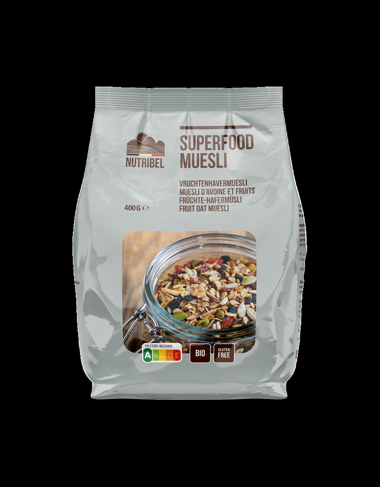 Nutribel Havermuesli superfoods bio & glutenvrij 400g