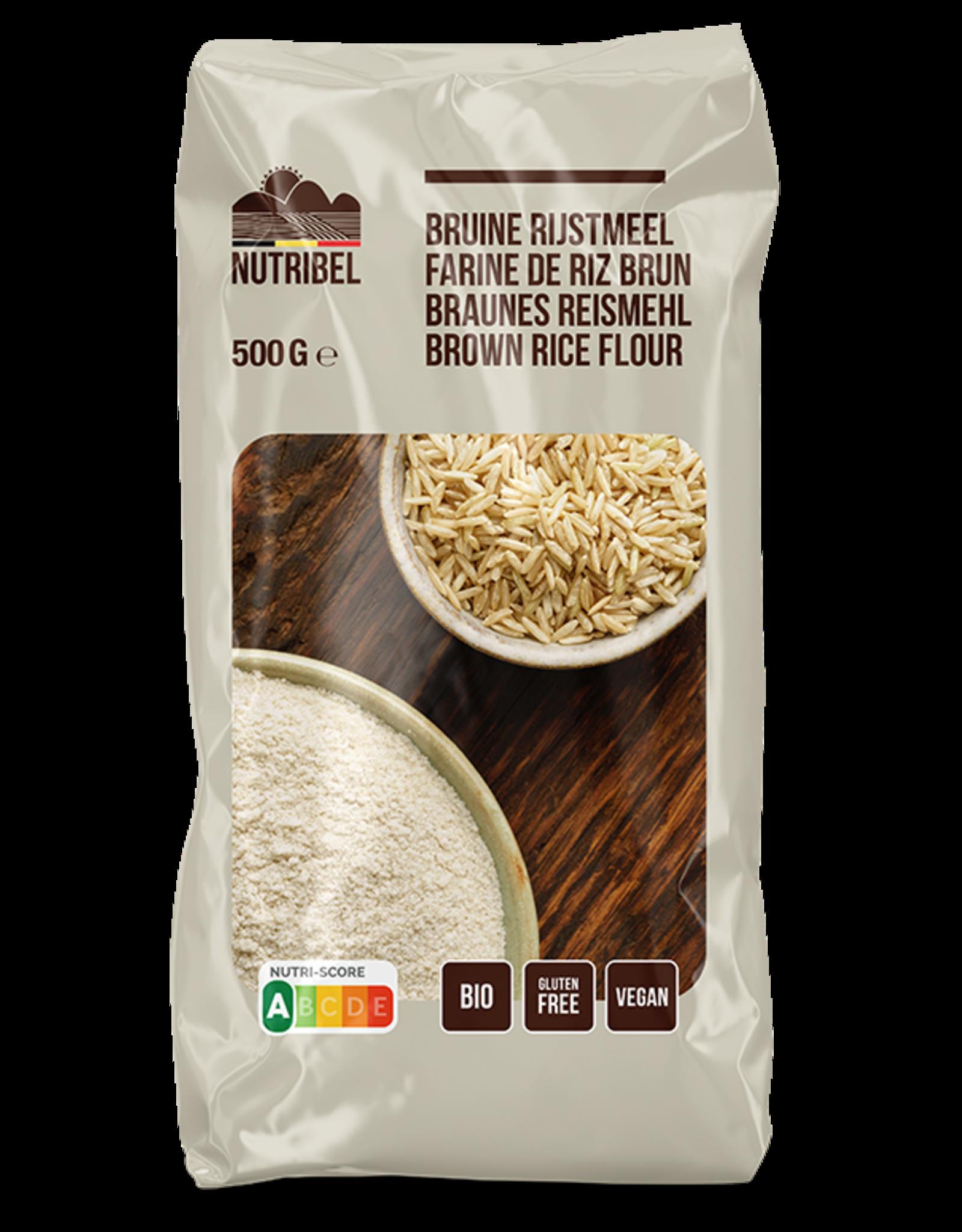 Nutribel Farine de riz brun bio & sans gluten 500g