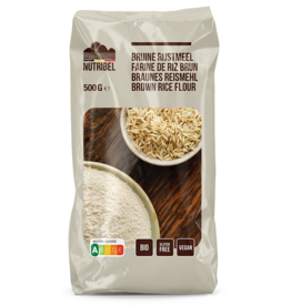 Bruine rijstmeel bio & glutenvrij 500g