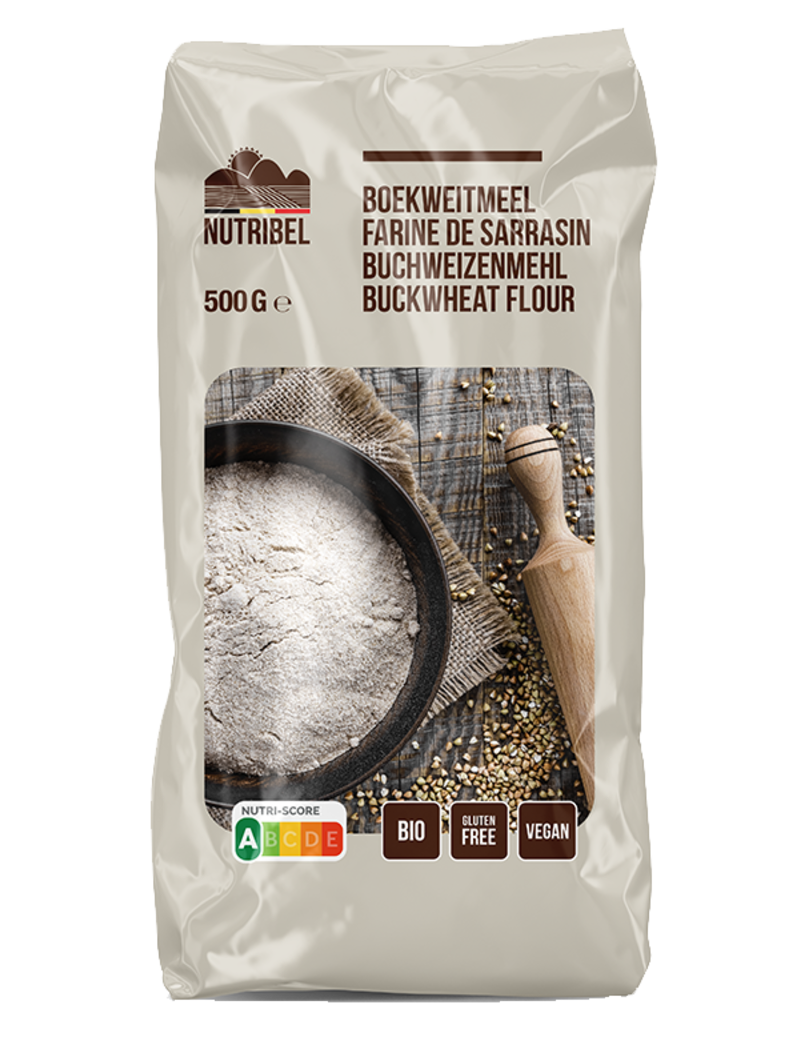 Nutribel Boekweitmeel bio & glutenvrij 500g