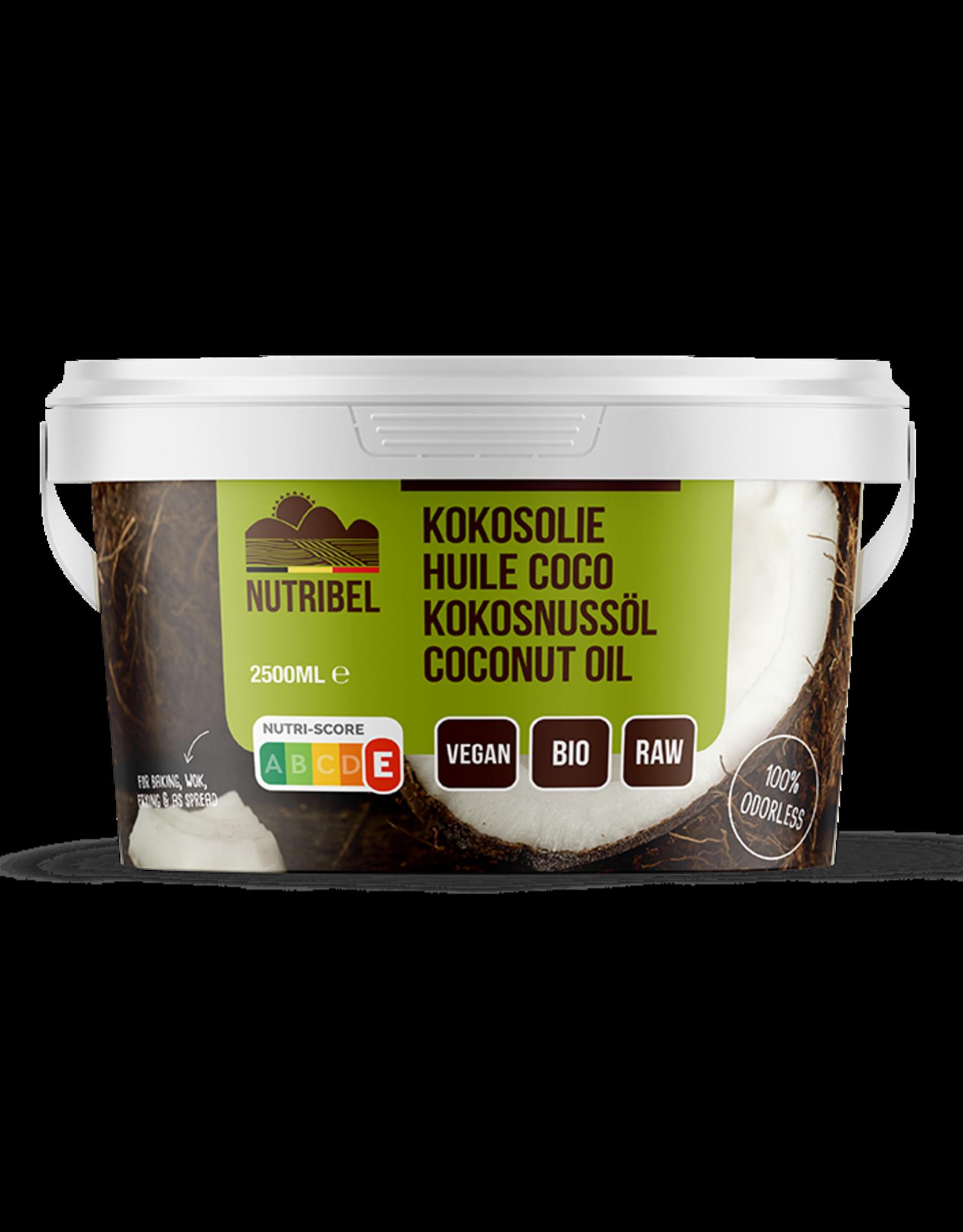Nutribel Huile de noix de coco inodore bio 2500ml