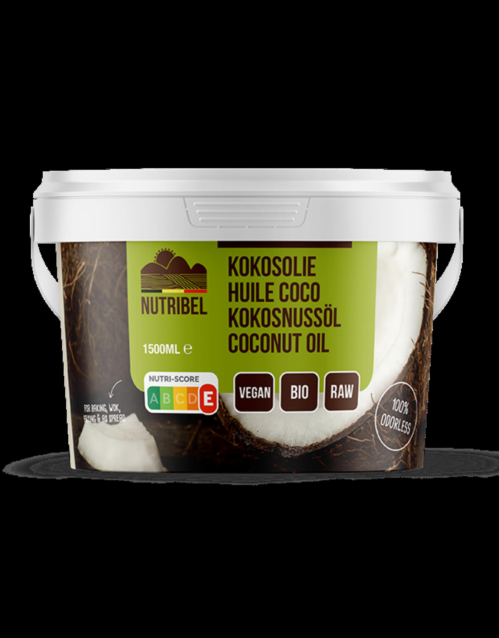 Nutribel Kokosolie geurloos bio 1500ml