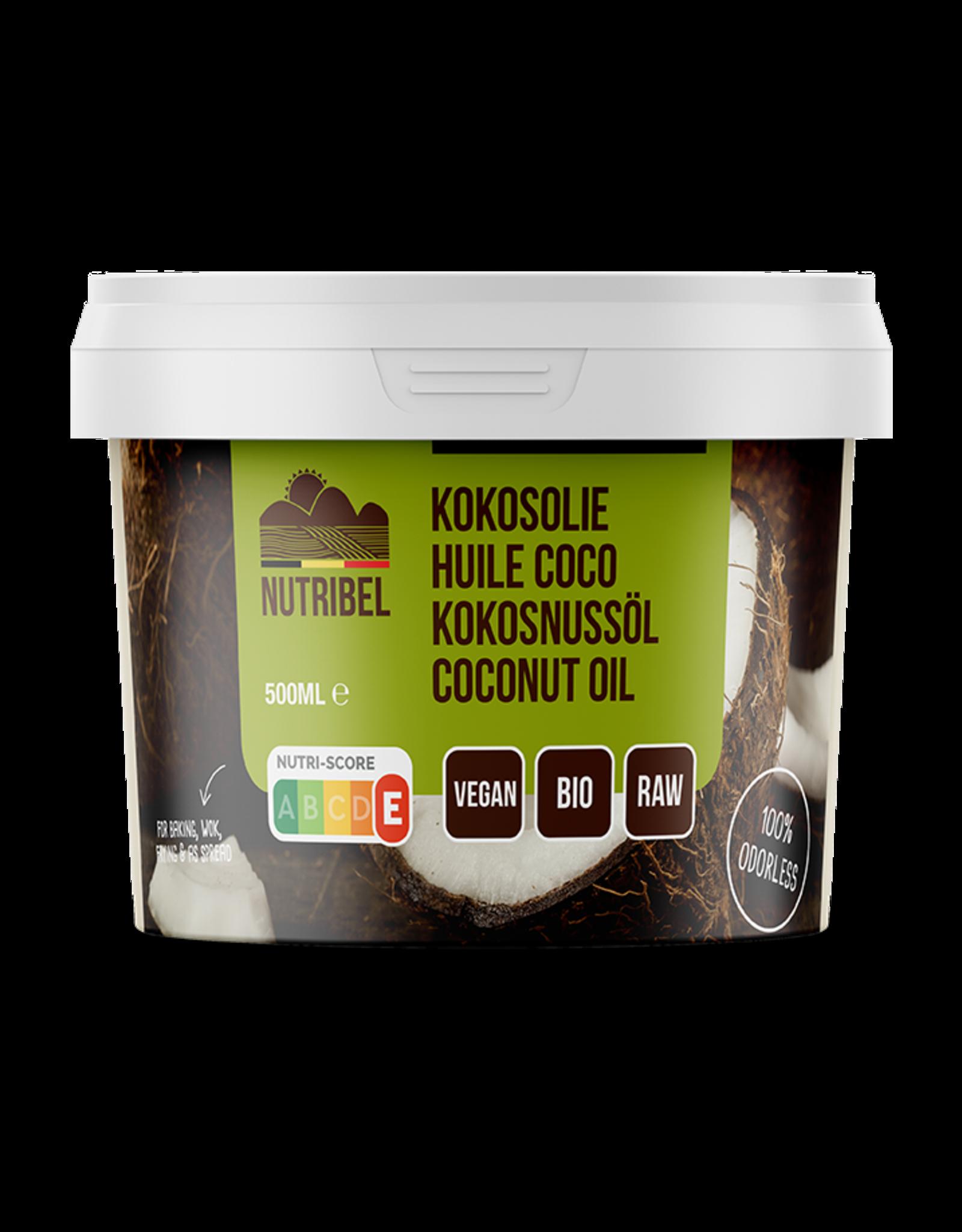 Nutribel Huile de noix de coco inodore bio 500ml
