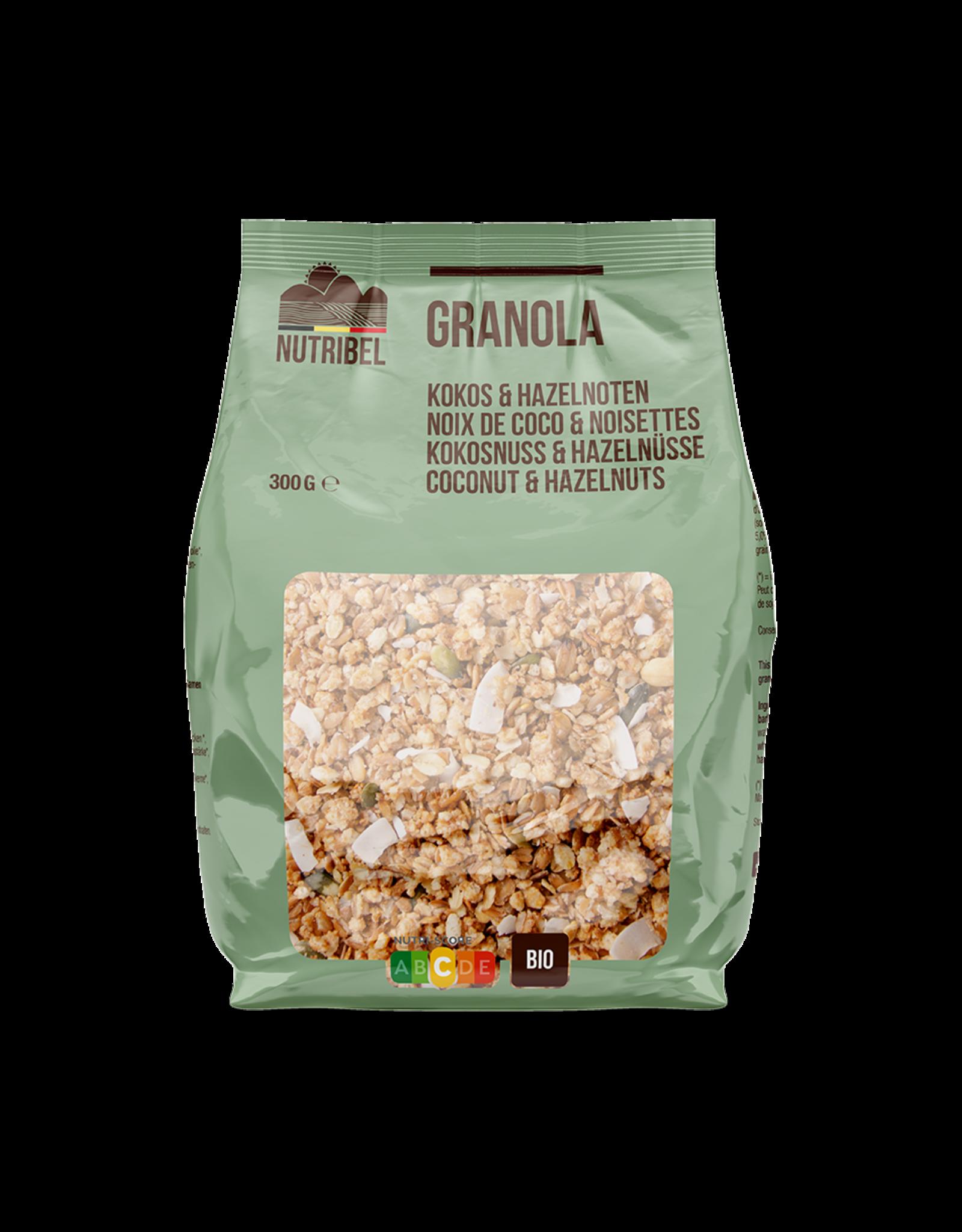 Nutribel Granola kokos hazelnoot bio 300g
