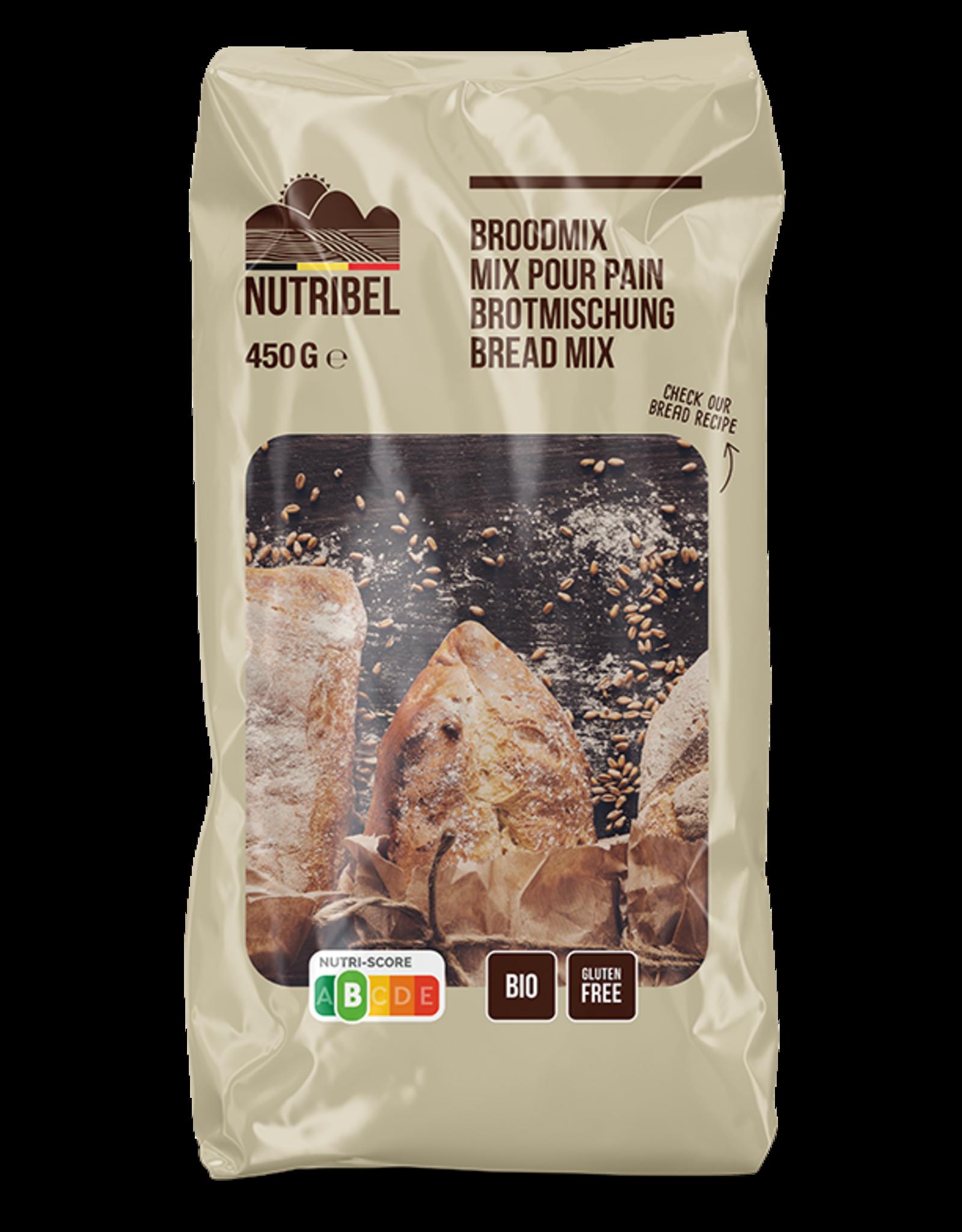 Nutribel Broodmix vezelrijk bio & glutenvrij 450g