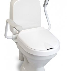 Etac Hi-Loo toiletverhoger vast met armleuning