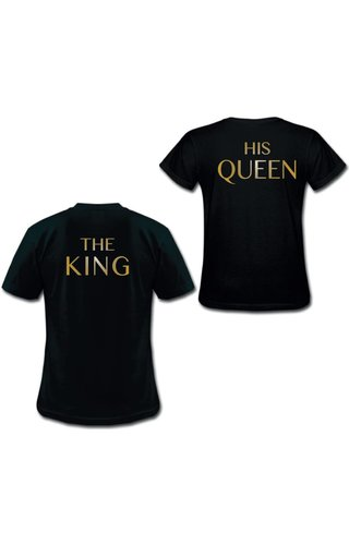 THE KING & HIS QUEEN COUPLE TEES GOLD EDITION