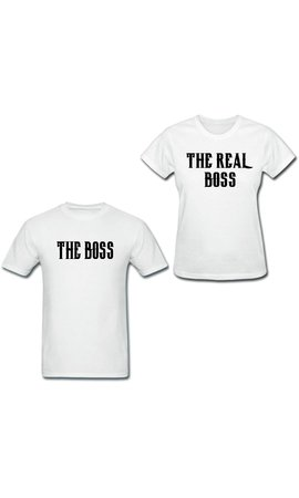 THE (REAL) BOSS COUPLE TEES