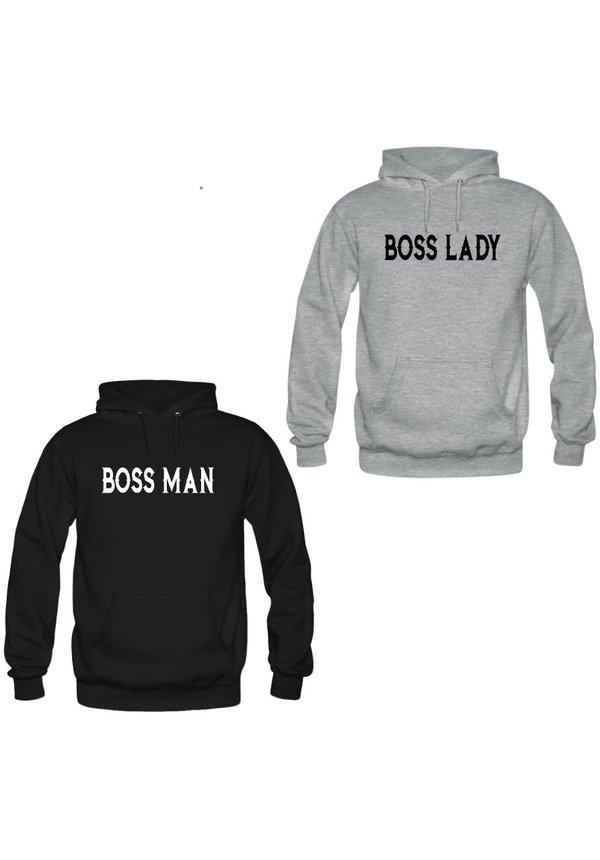 BOSS MAN & LADY COUPLE HOODIES