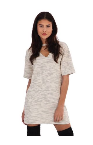 LA SISTERS CUT OUT TSHIRT DRESS WHITE