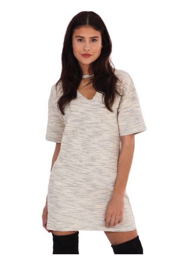 CUT OUT TSHIRT DRESS WHITE