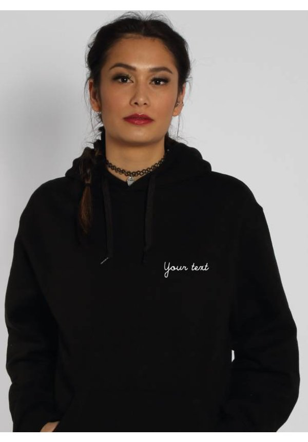 CUSTOM SMALL WRITTEN TEXT HOODIE (WMN)