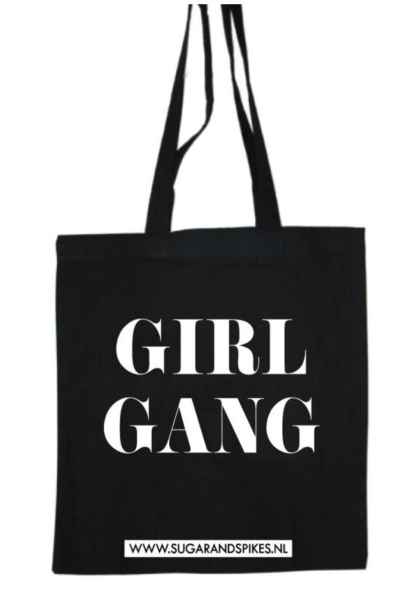 GIRL GANG COTTON BAG