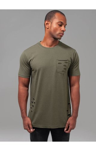 RIPPED POCKET TEE OLIVE
