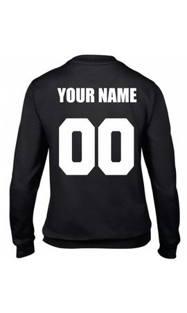 CUSTOM TEAM NUMBER SWEATER (WMN)