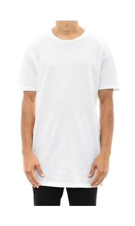 BASIC LONG TEE WHITE (MEN)