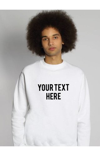 CUSTOM TEXT SWEATER (MEN)