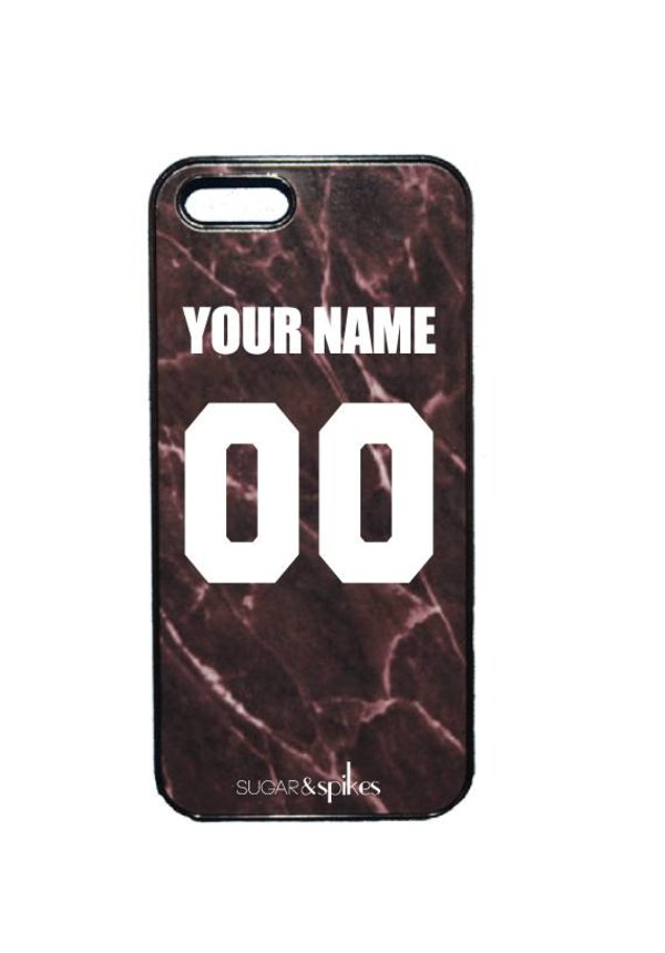 CUSTOM TEAM NUMBER CASE MARBLE BLACK