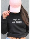 ANGEL FACE OVERSIZED CROP SWEATER