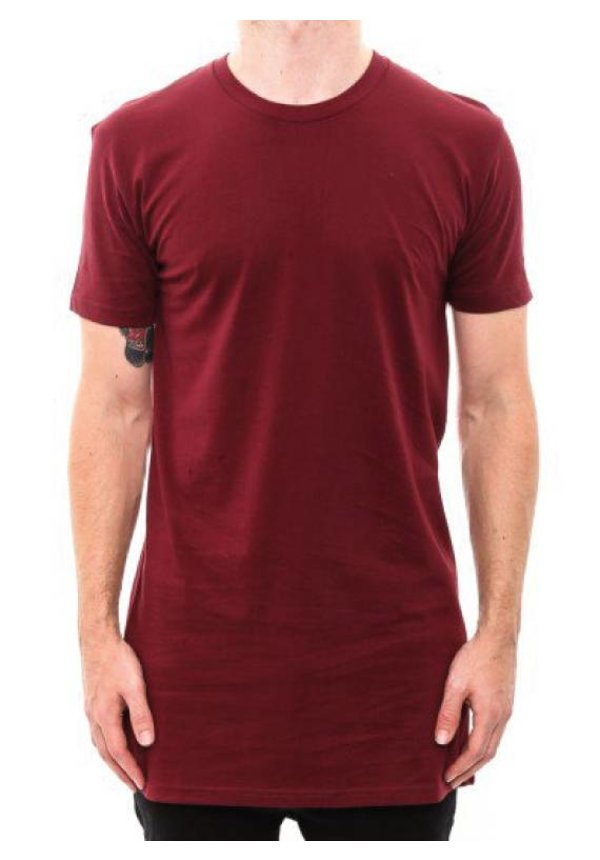 BASIC LONG TEE BURGUNDY (MEN)