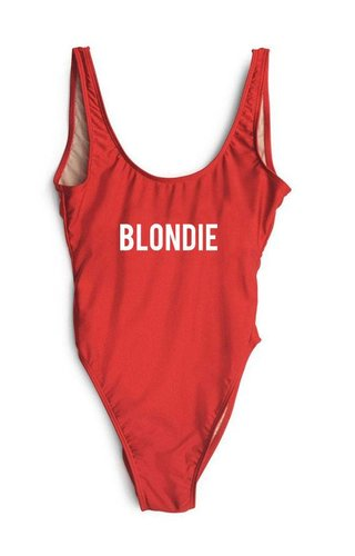 BLONDIE SWIMSUIT RED