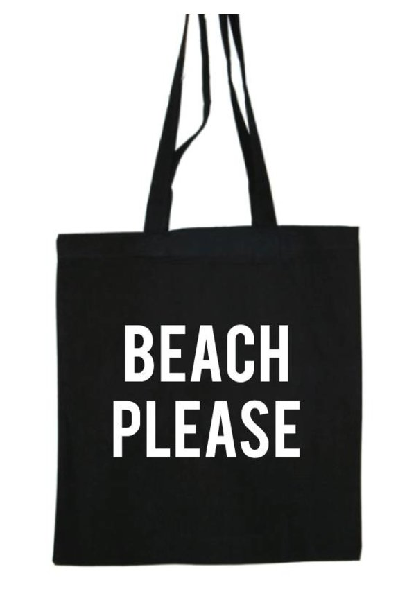 BEACH PLEASE COTTON BAG