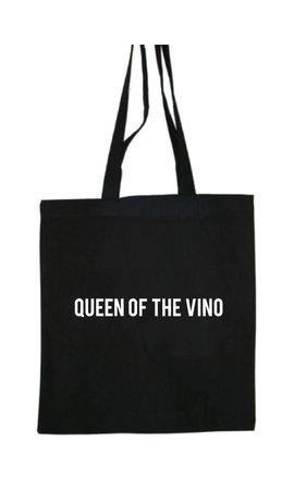 QUEEN OF THE VINO COTTON BAG