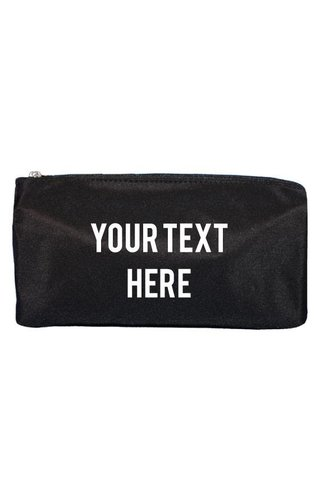 CUSTOM TEXT MAKE UP BAG