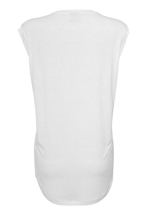 SUN'S OUT BUNS OUT SLEEVELESS TEE WHITE