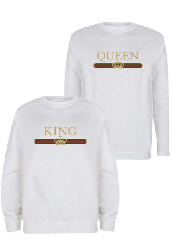 KING & QUEEN STRIPED COUPLE SWEATERS