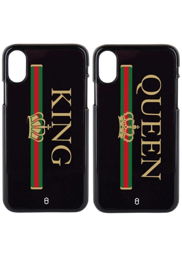 KING & QUEEN STRIPED COUPLE CASES