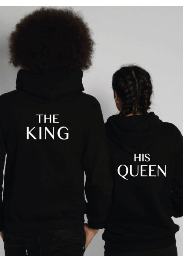 THE KING & HIS QUEEN COUPLE HOODIES