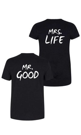 MR&MRS GOOD LIFE COUPLE TEES