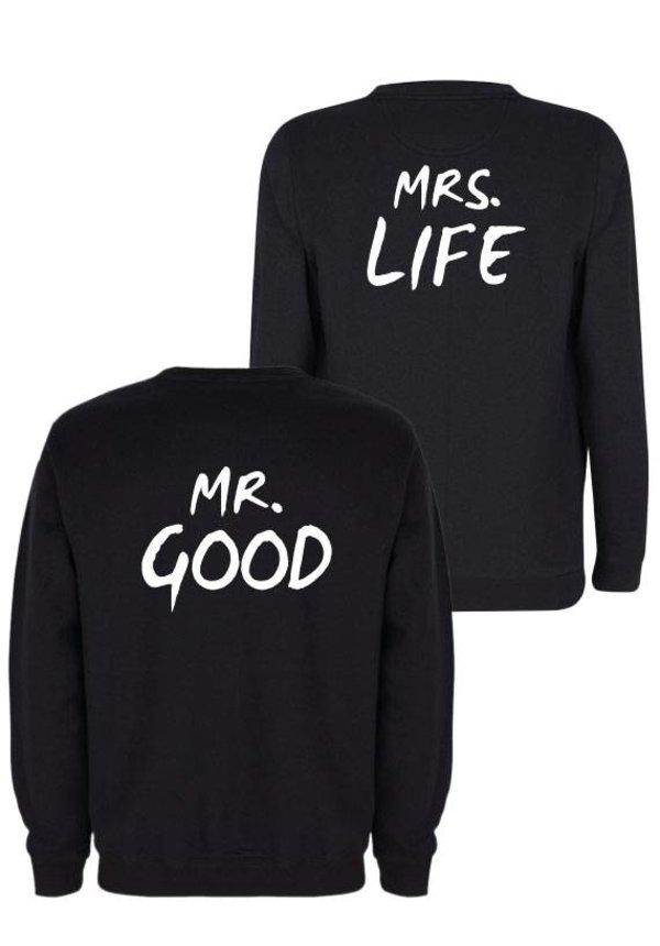 MR & MRS GOOD LIFE COUPLE SWEATERS