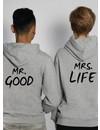 MR & MRS GOOD LIFE COUPLE HOODIES