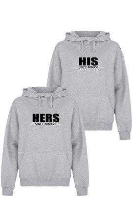 (OWN DATE) HIS & HERS COUPLE HOODIES