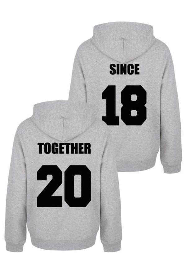 TOGETHER SINCE COUPLE HOODIES
