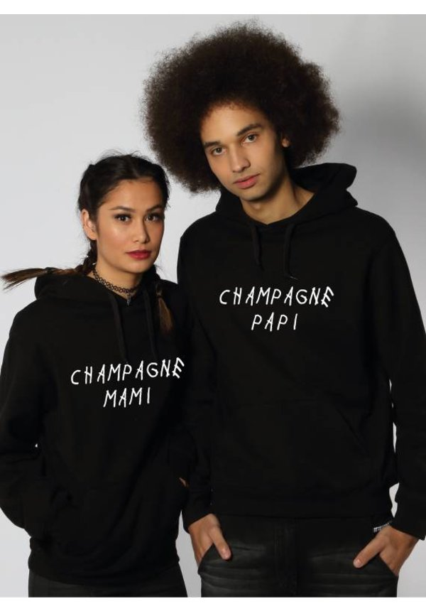 CHAMPAGNE PAPI & MAMI COUPLE HOODIES