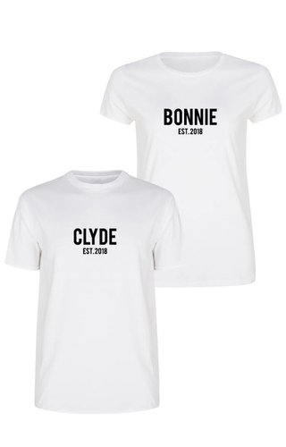 CUSTOM BONNIE & CLYDE COUPLE TEES