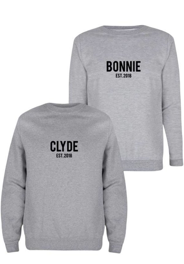 CUSTOM BONNIE & CLYDE COUPLE SWEATERS