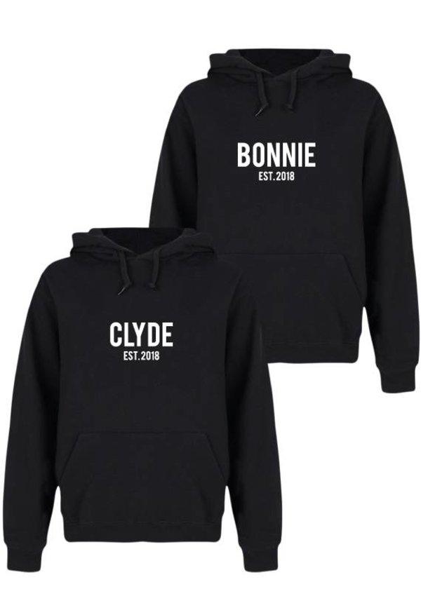 CUSTOM BONNIE & CLYDE COUPLE HOODIES