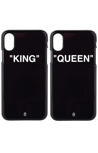 KING & QUEEN QUOTE COUPLE CASES