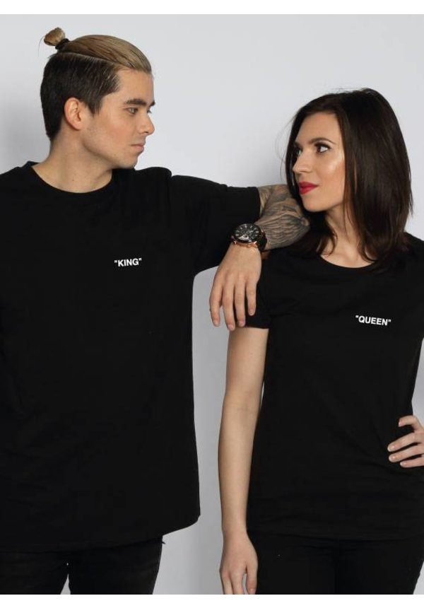 KING & QUEEN QUOTE COUPLE TEES