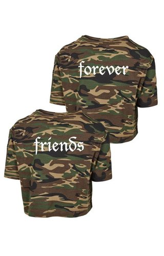 FRIENDS FOREVER CAMO CROPTOPS